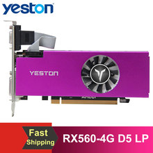 Yeston RX560-4G D5 LP Graphics Card Gaming Graphic Card 1200/6000MHz /128bit/GDDR5 Memory VGA+HDMI+DVI-D Output Ports Video Card