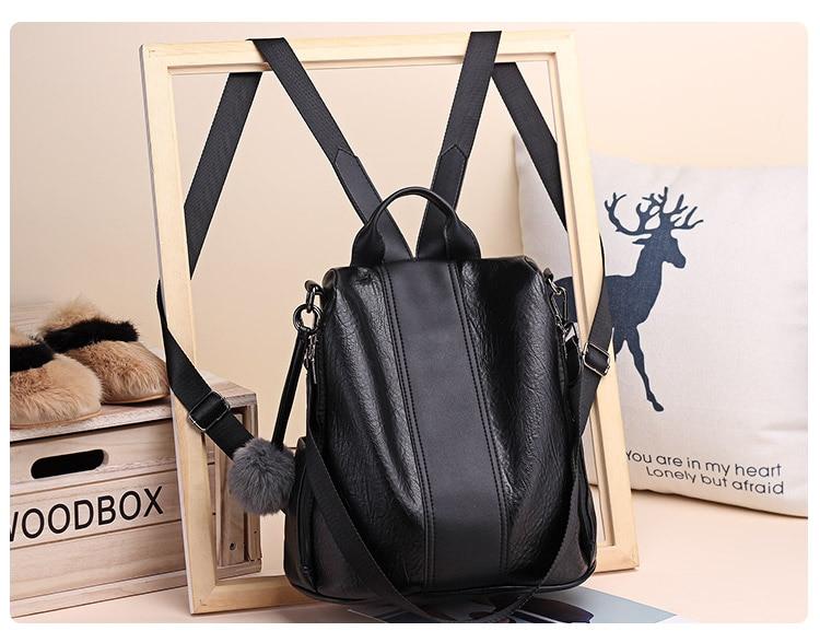 H9dc6bc939b594108885c1ba673bdb5e0d 2019 Women Leather Anti-theft Backpacks High Quality Vintage Female Shoulder Bag Sac A Dos School Bags for Girls Bagpack Ladies