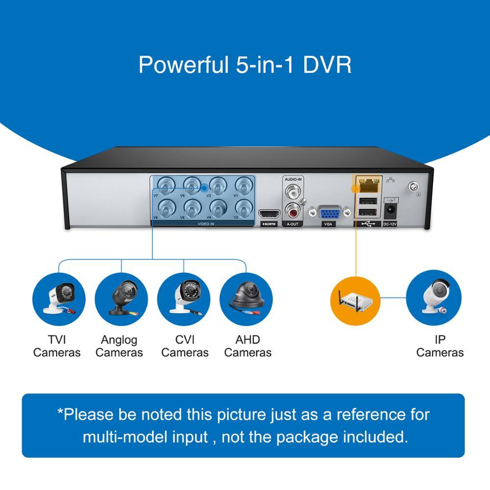 SANNCE 8CH 1080 P DVR 1080 P CCTV Sistemi 4 adet 1080 P 2.0MP - Güvenlik ve Koruma - Fotoğraf 2