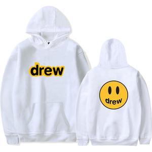 Pink Hooded-Hoody Streetwear Sweatshirt Drew Hip-Hop Justin Bieber Damski Bluzy Men New