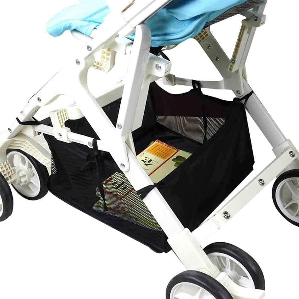Recém nascido carrinho de bebê carrinho de bebê cesta inferior carrinho carrinho de compras buggy quatro ganchos loops armazenamento organizador saco do bebê suprimentos
