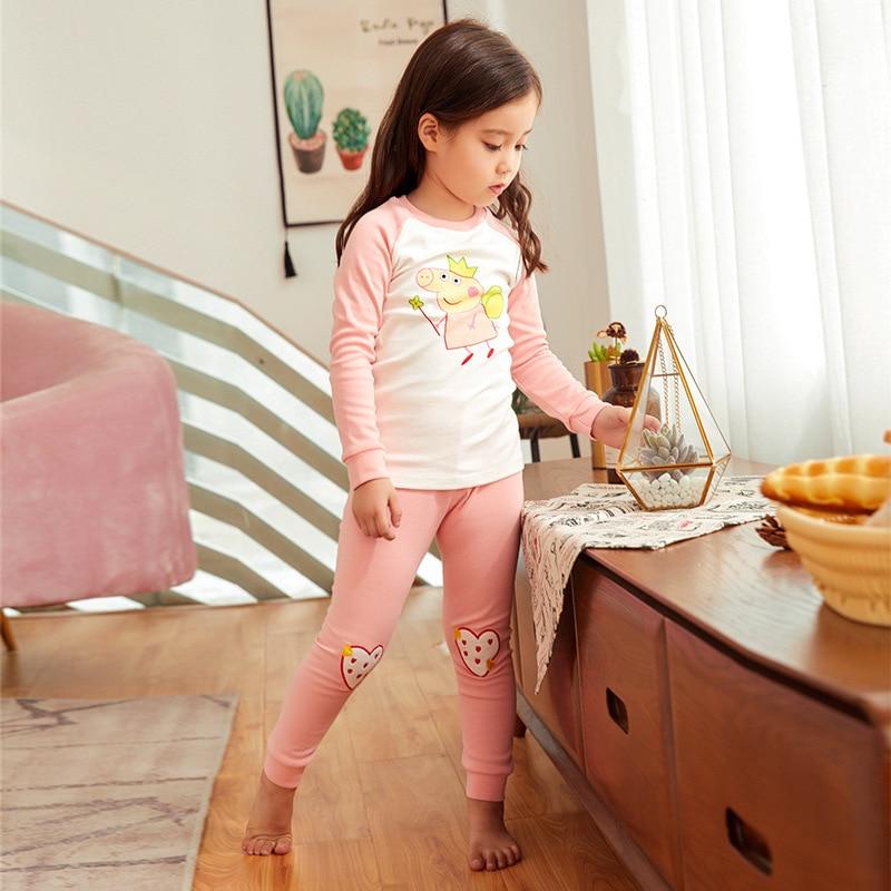2018 New Style Children Thermal Underwear Cotton Girls Thermal Underwear Cotton Jersey-Child Baby Pajamas Winter