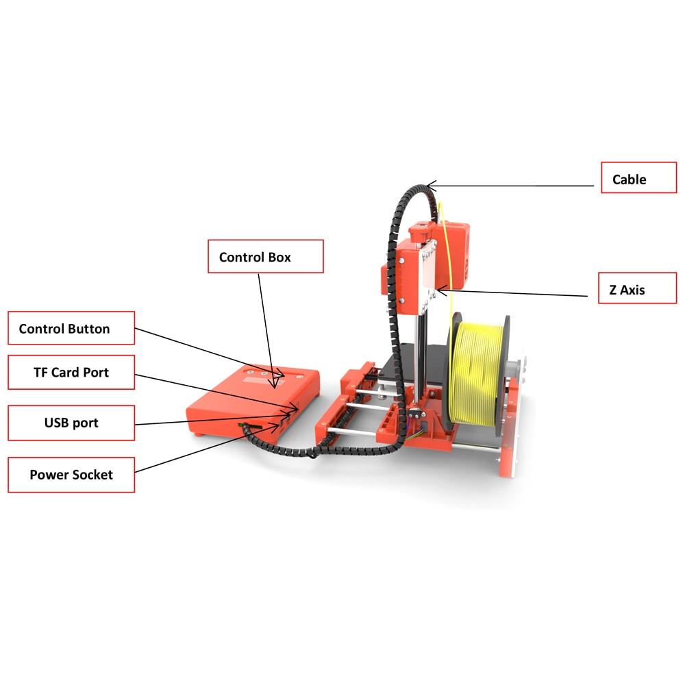 Mini Portable  Kids 3D DIY Printer for Household Education 18