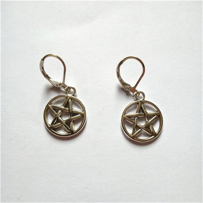 Pentagram Earrings with Leverback