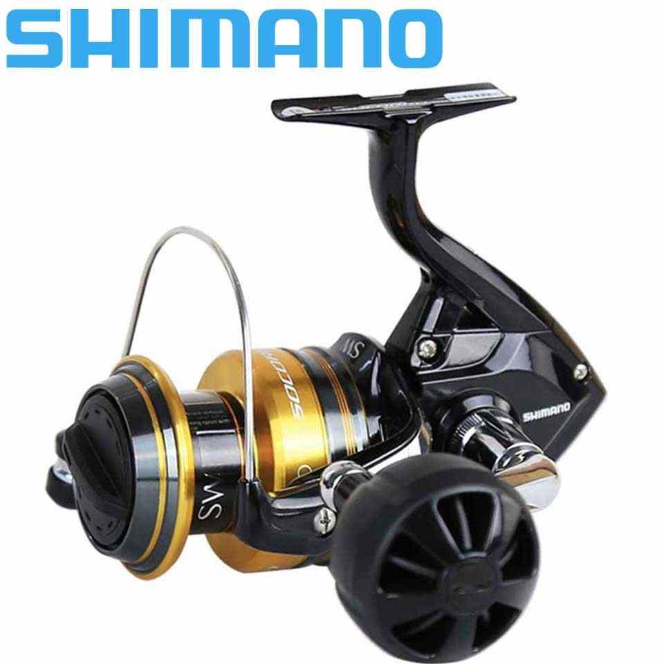 Shimano Saltwater Spinning Reel Socorro Sw 5000-10000 4 + 1BB Aluminium Spoel 10-12Kg Power Hagane gear Zee Vissen Rollen