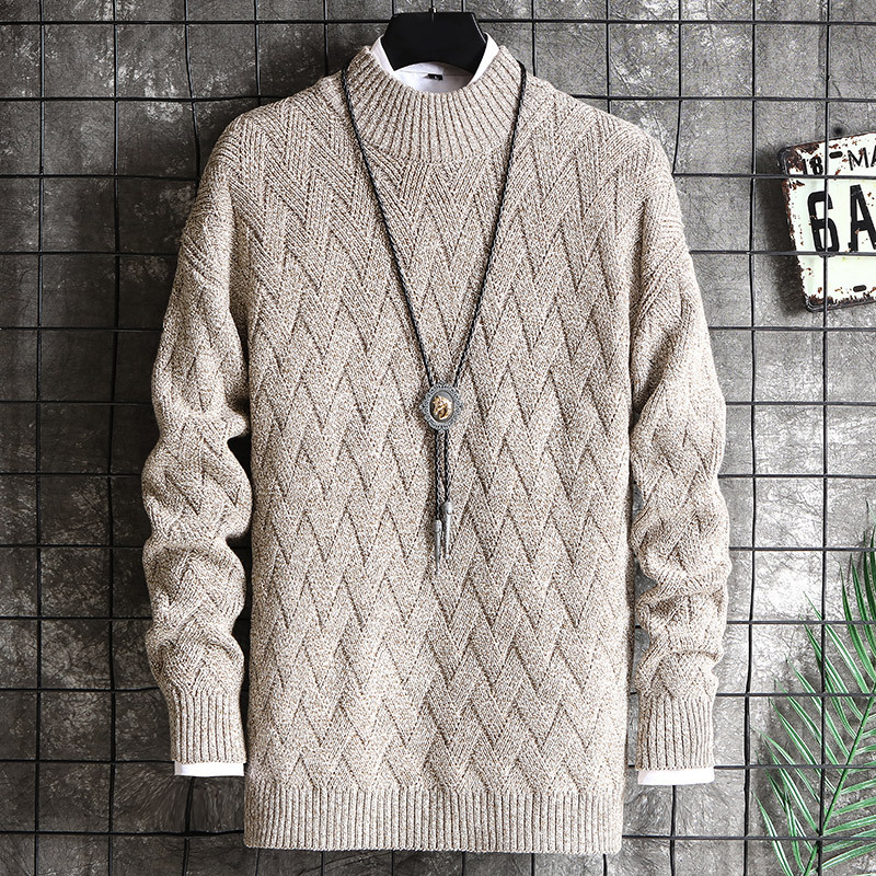 2019 Men Handsome Trend Of Cultivate One's Morality Personality Knit New Sweater In The Fall And Winter Of Youth