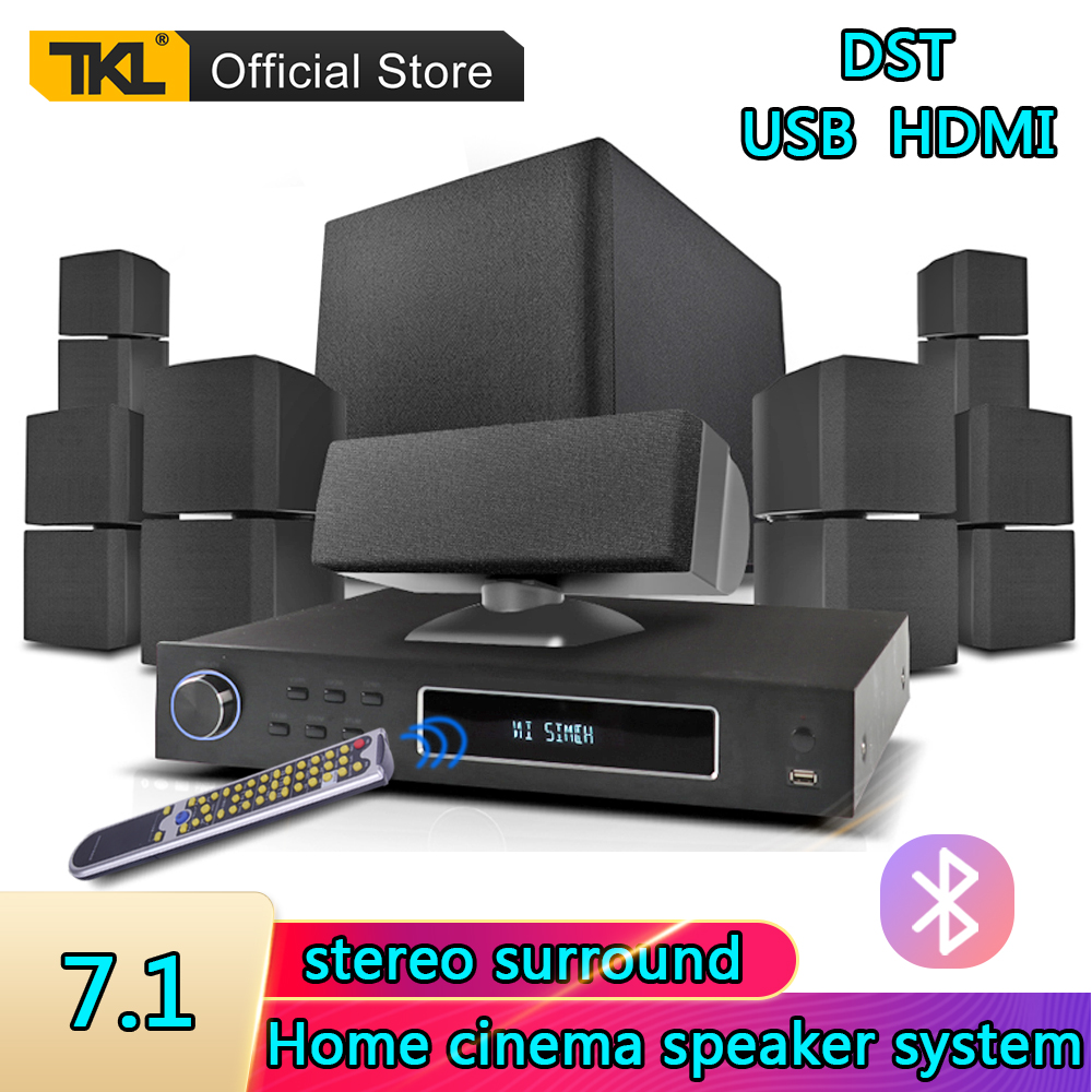 TKL 7.1 Channels Home Theater System USB Bluetooth 3D surround sound Subwoofer Speaker System 1