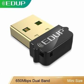 Edup 650 150mbpsのusbの無線 802.11ACアダプタ 2.4/5 デュアルバンドワイヤレスusbイーサネットアダプタreceiverfor pc windows、macos、linux