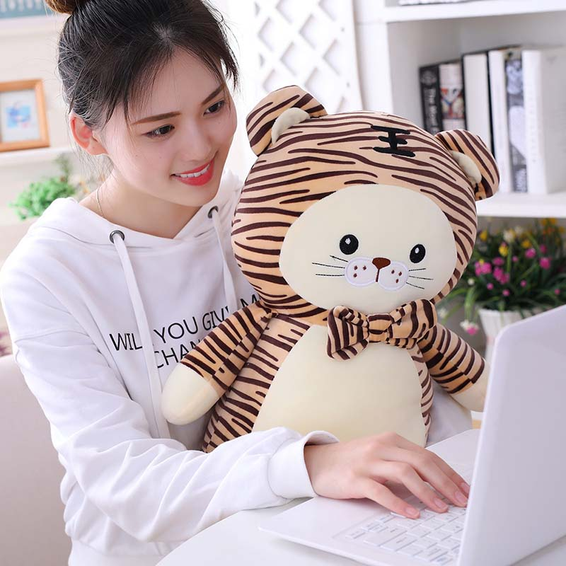 1pc 40/50/65cm Kawaii Animal Tiger Plush Toy Stuffed Cartoon Doll for Kids Baby Soft Plush Pillow Home Decor Cute Birthday Gift  - buy with discount