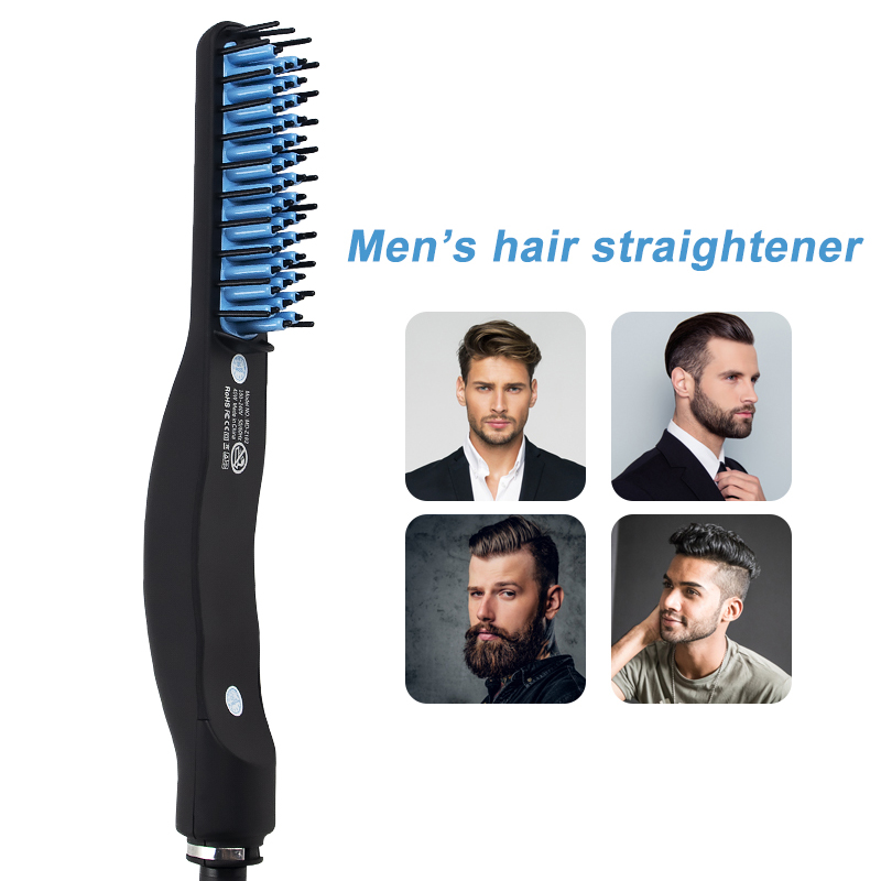 Dropshipping Multifunctional Beard Straightener Electric Beard Comb Men Hair Beard Straightener Brush Comb Quick Hair Styler Men