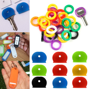 HOT Fashion Hollow Keys Cap Multi Bright Color Silicone Soft Key Covers Topper Keyring NDS