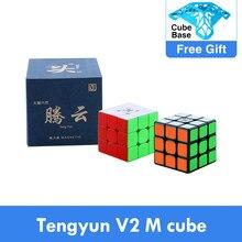 Original dayan tengyun v2 m 3x3x3 v1 cubo magnético profissional dayan v8 3x3 magia cubing velocidade quebra-cabeça brinquedos educativos para o miúdo