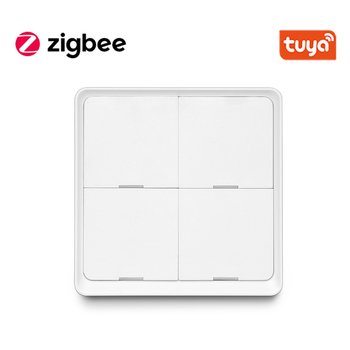 Tuya Smart ZigBee Smart Switch 4 Gang Scenario Scene Switch Support Zigbee2mqtt Home Assistant Smart Home Automation