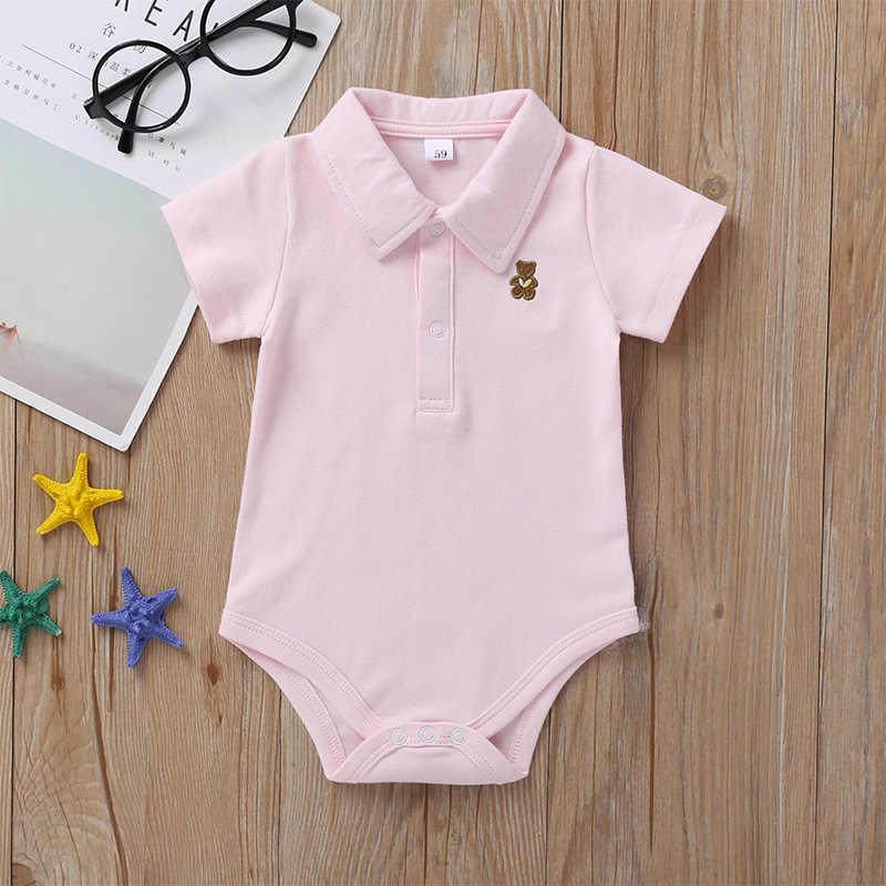 Bé Sơ Sinh Áo Liền Quần 0-12 Tháng 2020 Mùa Hè Chắc Chắn 3 Màu Áo Trẻ Sơ Sinh Áo Liền Quần Mới Sinh Ra Bebies roupas Trẻ Em