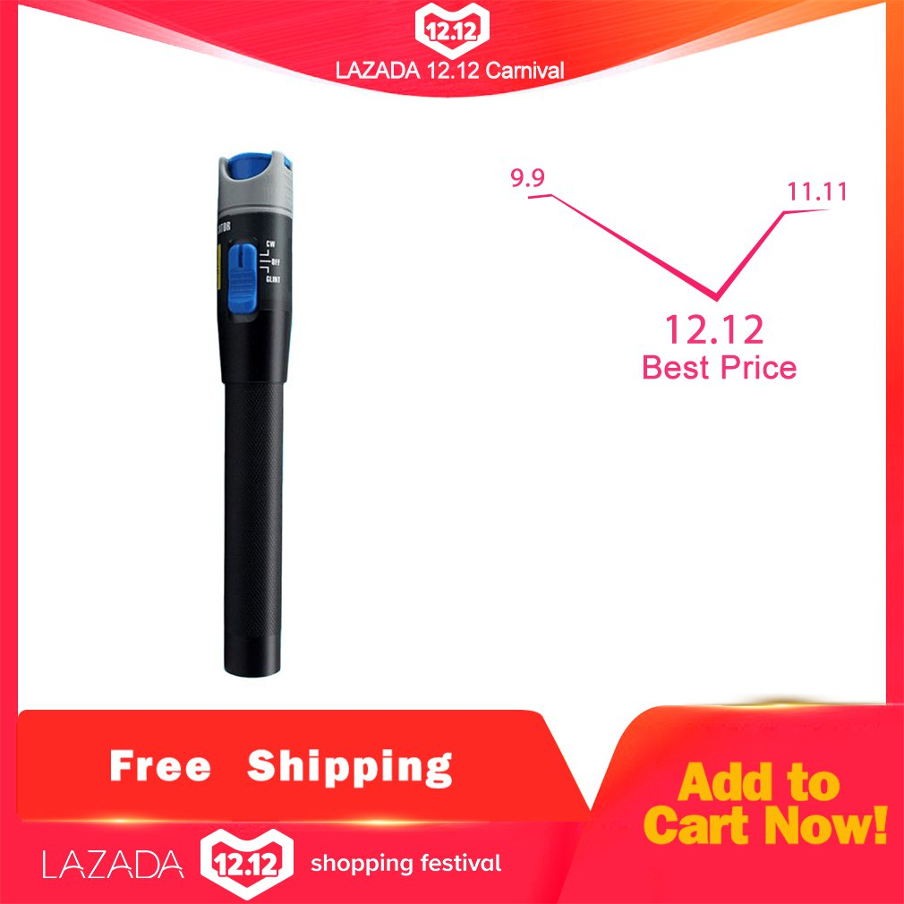 30mW Visual Fault Locator Fiber Optic Laser Pen 10mW Red Light Source Cable Tester SC/FC/ST Connector Type With VFL Meter 650nm