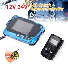 12V / 24V ogrzewanie postojowe na olej napędowy Monitor LCD do samochodu pilot przełącznik kontrolera do samochodu Diesel nagrzewnica powietrza ogrzewanie postojowe