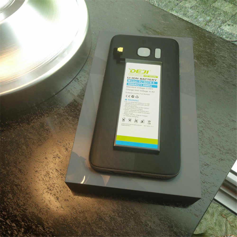 DEJI Voor SAMSUNG note 5 Batterij Real Capaciteit 3000mAh Interne Bateria Vervanging voor n9200 batterij