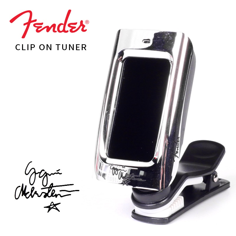 Fender Yngwie Malmsteen Signature Series FCT15C Clip-On Tuner For Electric Guitar, Acoustic Guitar, Bass Guitar, Mandolin, Banjo