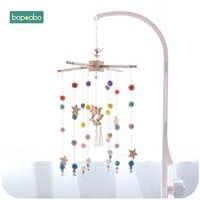 Bopoobo Baby Mobile Hängen Rasseln Spielzeug Wind-up Musik Box Aufhänger DIY Hängen Baby Krippe Mobile Bett Glocke Spielzeug halter Arm Halterung