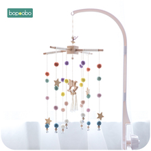 Bopoobo Baby Mobile Hanging Rattles Toys Wind-up Music Box Hanger DIY Hanging Baby Crib Mobile Bed Bell Toy Holder Arm Bracket baby rattles bracket set diy hanging baby crib mobile bed bell toy rotary holder arm bracket with clockwork movement music box