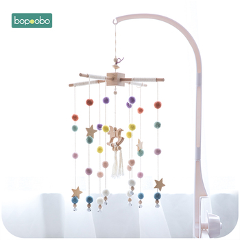 Bopoobo Baby Mobile Hanging Rattles Toys Wind-up Music Box Hanger DIY Hanging Baby Crib Mobile Bed Bell Toy Holder Arm Bracket
