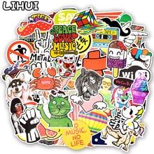 800pcs Random Stickers Cool Funny Cute Kawaii Creative Waterproof Sticker for DIY Sticker on Laptop Suitcase Car Bicycle Helmet