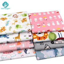 Cute Cartoon Collection(2) 100% Cotton Fabric by Meters for Sewing Patchwork Blanket Pillowcase Cushion Baby Crib BedSheet Cloth(China)