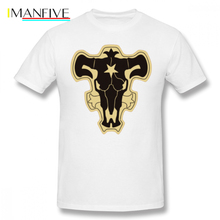 Black Clover T Shirt Bulls T-Shirt 6xl Funny Tee Fashion 100 Cotton Short Sleeves Mens Graphic Tshirt