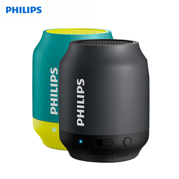 Philips BT25 Bluetooth Wireless Mini Speaker Portable Audio Phone Small Stereo Subwoofer Music Wizard Speaker Black Sky Blue
