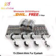 20/50/80 pc hurtownie 5D w pełni Mink fałszywe rzęsy 3D rzęsy z norek wyczyść taca etykieta makijaż dramatyczna długa norka rzęsy z norek luzem