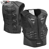 GHOST RACING Kids Motorcycle Armor Vest Motorbike Chest Back Protector Armor Motocross Racing Vest Protective Gear