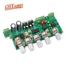 GHXAMP 2,1 preamplificador de Subwoofer, placa de Control de tono preamplificador NE5532, 3 canales, TL072, ajuste de graves agudos