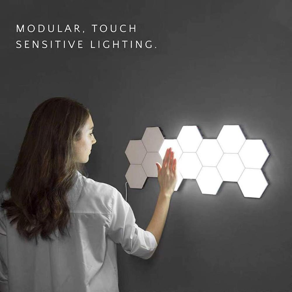 quantum diy luz led sensivel ao toque lampada de sensor noite lampadas de parede montagem de