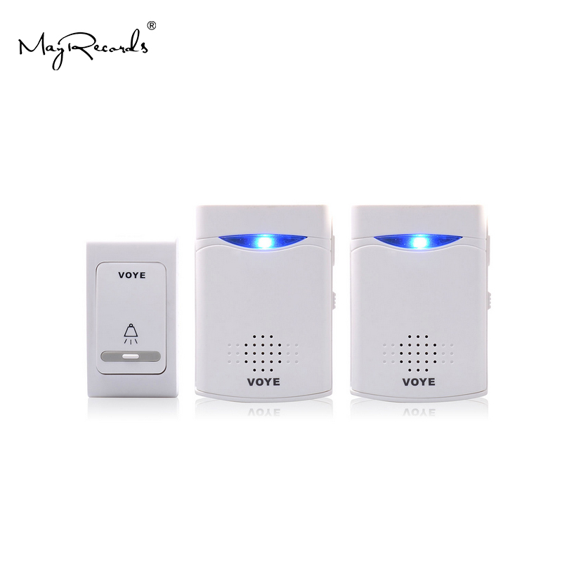 Free Shipping 38 Music Tunes Melody Remote Control Wireless Doorbell 1 Remote Control 2 Wireless Digital Receiver Home Security