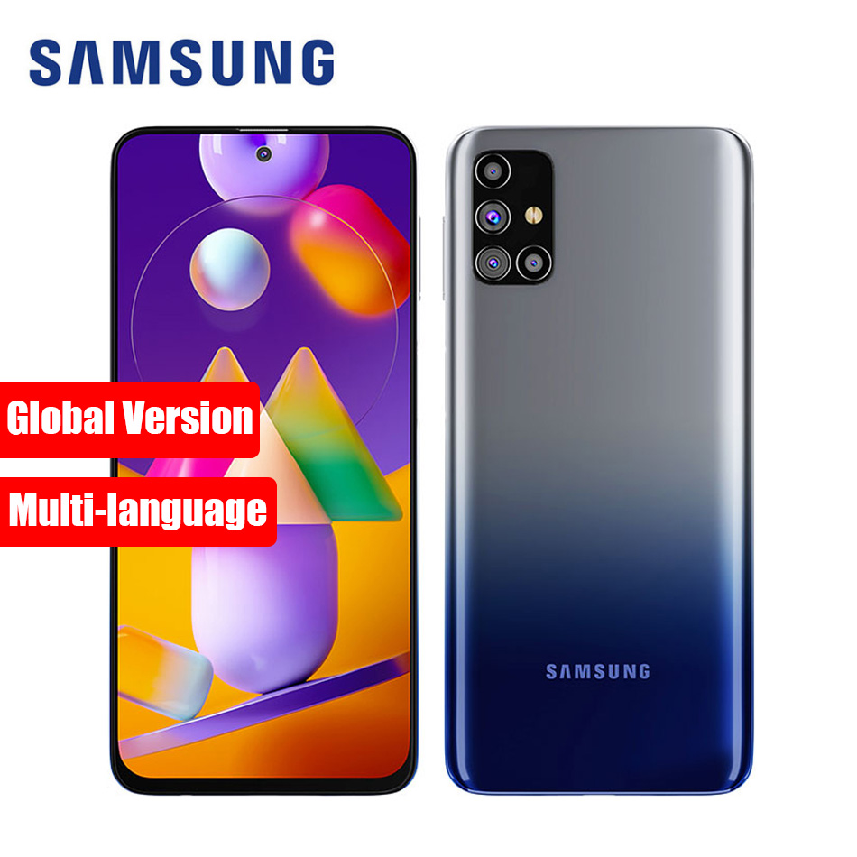Globale Version Samsung Galaxy M31s M317F/DSN Handy 6GB RAM 128GB ROM 6.5 ''6000mAh android 10 64MP NFC M31S Smartphone