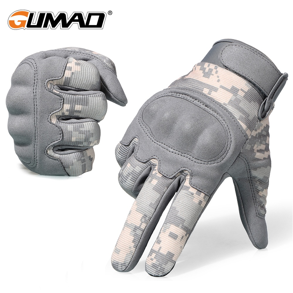 Touch Screen ACU Camouflage Tactical Glove Army Military Combat Airsoft Outdoor Climbing Shooting Paintball Full Finger Gloves