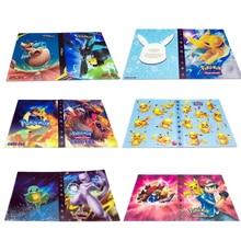 Мультфильм Аниме Карманный 240 шт держатель альбомная игрушка Коллекция Pokemones карты Альбом Книга топ для детей подарок