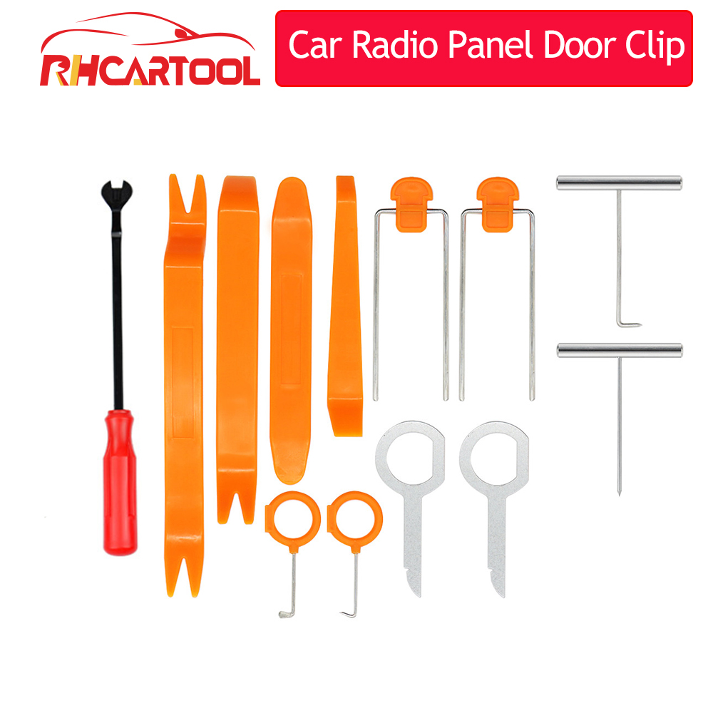 4/7/12 adet oto araba aksesuarları radyo panelli kapı klip paneli Trim Dash ses temizleme kiti tamir el kokpit gözetlemek aracı aksesuarları