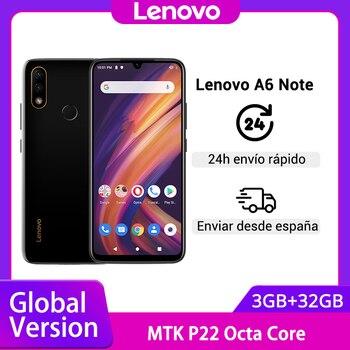 Перейти на Алиэкспресс и купить Глобальная версия смартфона Lenovo A6 Note 3 ГБ 32 ГБ MTK P22, Восьмиядерный, двойная задняя камера 19,5: 9, 6,09 дюйма, 4000 мАч