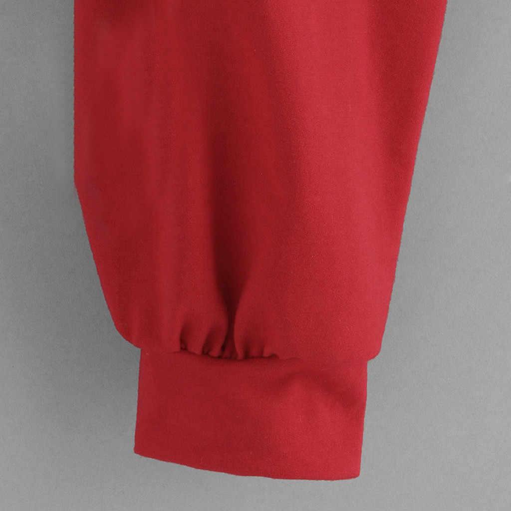 JAYCOSIN Mode Frauen Casual Einfache Sweatshirt Splice Langarm Komfortable Beliebte Einfarbig Weiche Top Bluse