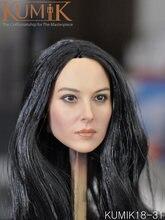 1/6 масштаб черная голова волос резьба Модель игрушки женская