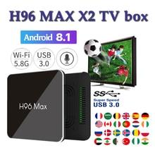 Set top box smart tv H96 Max X2 Android TV BOX Amlogic S905x2 4GB 64GB 2.4G/5.8G Wifi 4K Smart media player X96 MAX