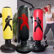 Inflatable Sandbag Adult Children Boxing Punch Kicking PVC Inflatable Boxing Bag Tumbler Gym Kids Boxing Training Target 160cm