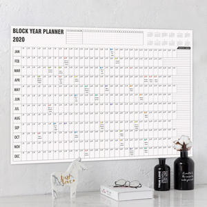 Calendar-Year-Planner Mark-Stickers Plan-Paper Office-Supply Wall Daily 2-Sheet School