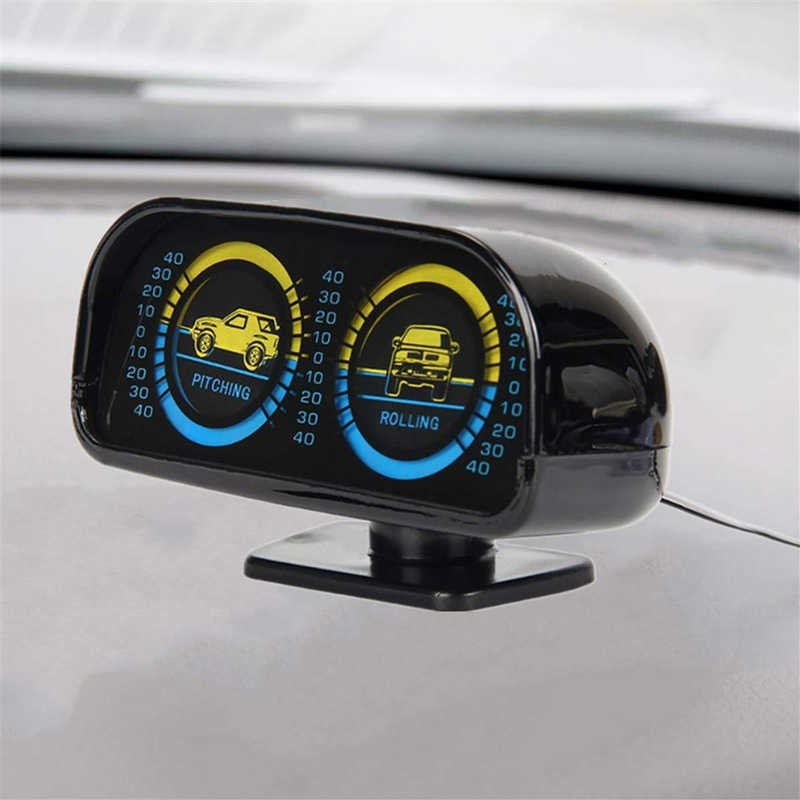 2 Di 1 Angle Decoction Lereng Meter Balancer ABS Mobil 12V dengan Lampu Latar LED Gradien Alat Kendaraan Inclinometer