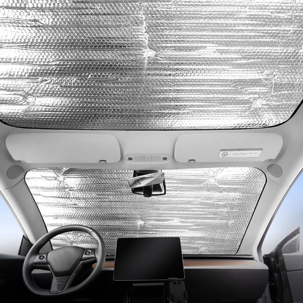 Glass Roof Sunshade Car Skylight Blind Shading Net for Tesla Model 3 Windshield Shade Front Rear Window SunShade For Tesla Parts