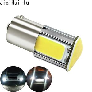 Image 4 - 1 pièces p21w bay15d ba15s P21/5W 1156 1157 led 4 COB 12v auto stop lumière blanc rouge voiture ampoule led arrière clignotant lampe parking 12v