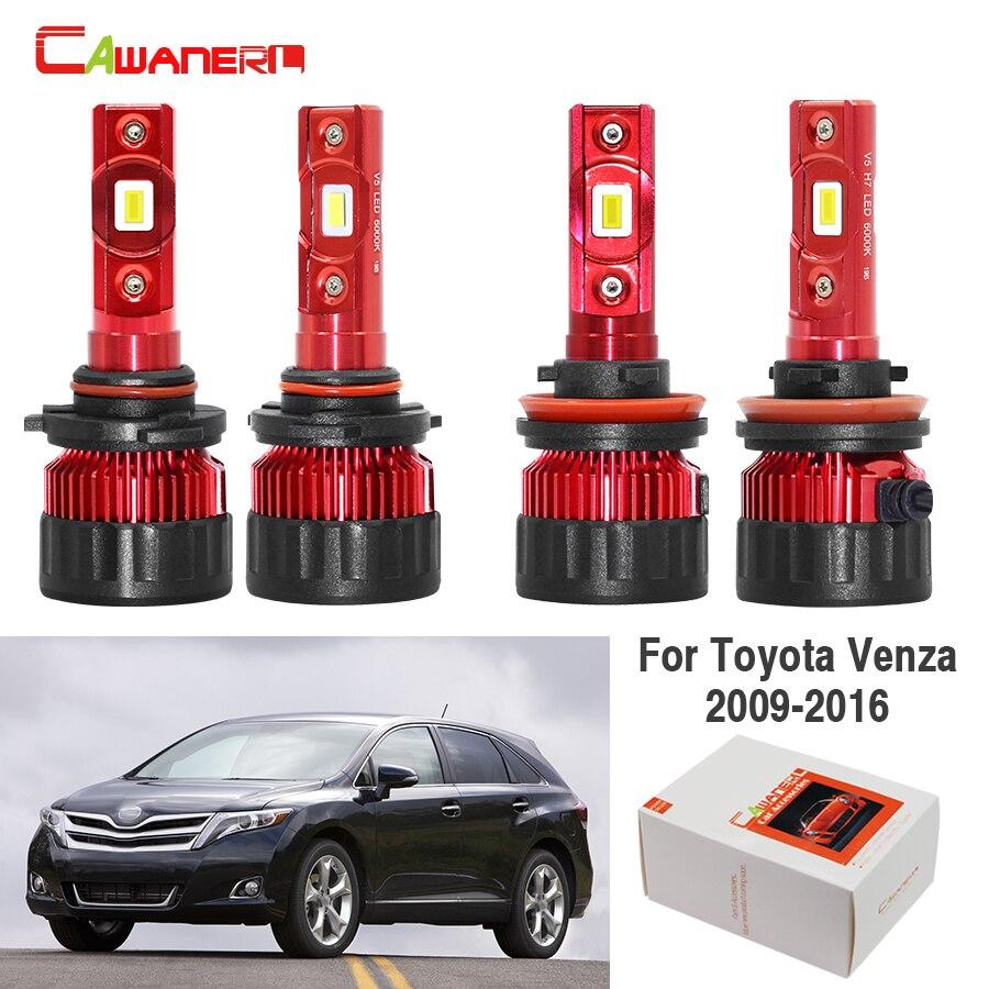 4X 9005 H11 LED Headlight Bulb Kit 6000K For Toyota Sequoia 2008-2017 Hi//Lo Beam