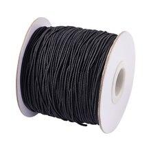 Cordón elástico redondo de 1mm, 2mm y 3mm, accesorios de joyería en blanco y negro para collares, pendientes, pulsera, fabricación de joyas DIY, 100m/40m/25m