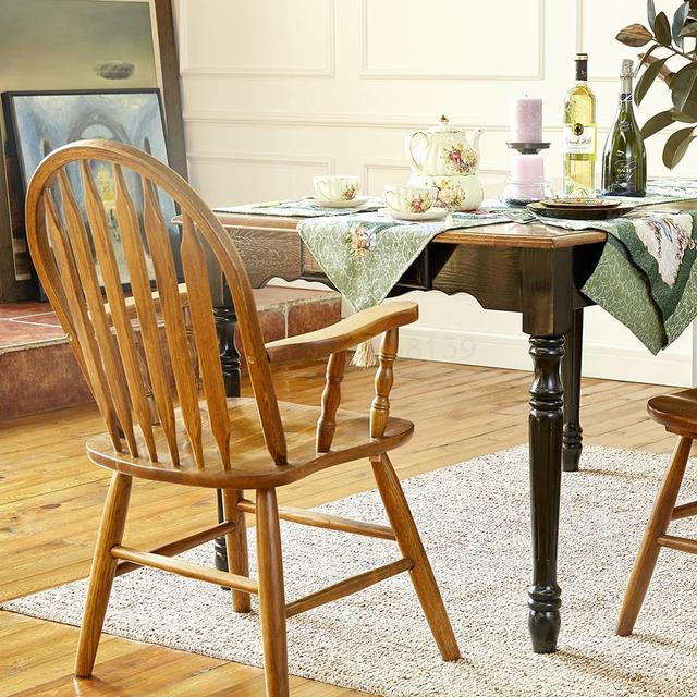 Windsor Solid Wood Dining Chair  2